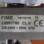 Вентилятор Ariston Genus 28FF, Genus Evo 30FF 65104231