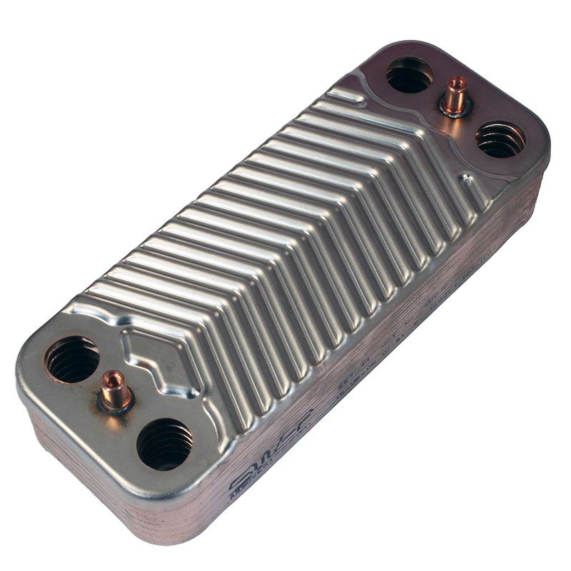 Теплообменник ГВС 14 пластин котла Unical 1.022220
